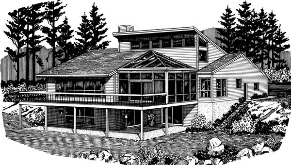 House Plan 57450 Rear Elevation