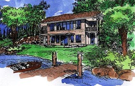 House Plan 57457 Elevation