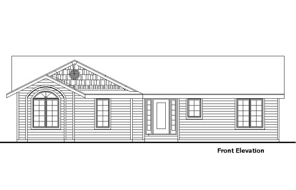 House Plan 57457 Rear Elevation