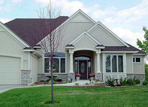 European House Plan 57459 Elevation