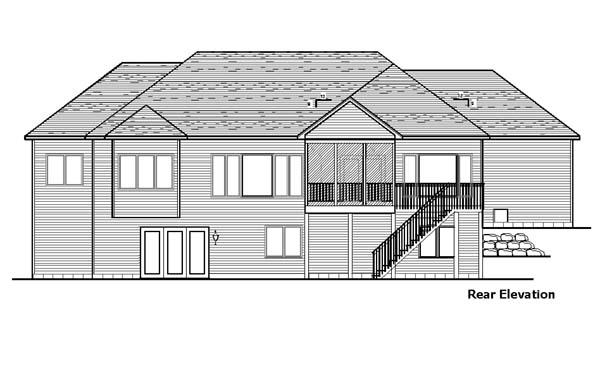 European House Plan 57461 Rear Elevation