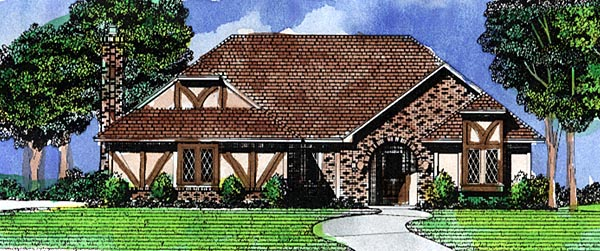 Tudor House Plan 57470 Elevation