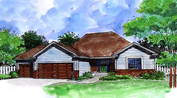 Ranch House Plan 57476 Elevation