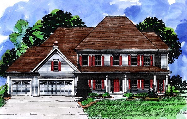 Country Farmhouse House Plan 57481 Elevation