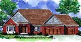 Ranch House Plan 57483 Elevation