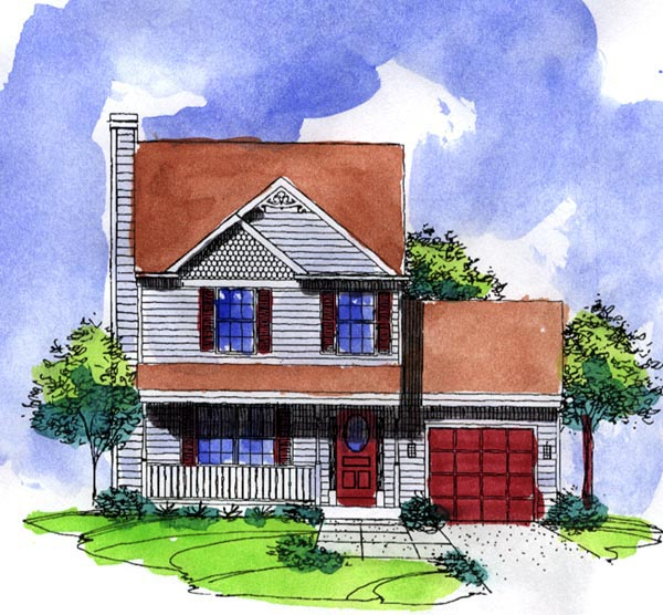 Cottage Country House Plan 57486 Elevation
