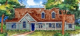Country Ranch House Plan 57491 Elevation