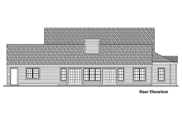 Country Ranch House Plan 57491 Rear Elevation