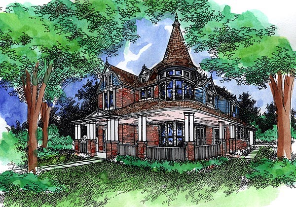 Victorian House Plan 57494 Elevation