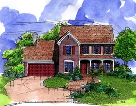 Country House Plan 57495 Elevation