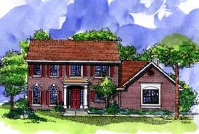 Southern House Plan 57498 Elevation