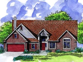 Country Ranch House Plan 57499 Elevation