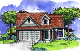 Country Ranch House Plan 57501 Elevation