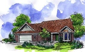 Country Ranch House Plan 57503 Elevation