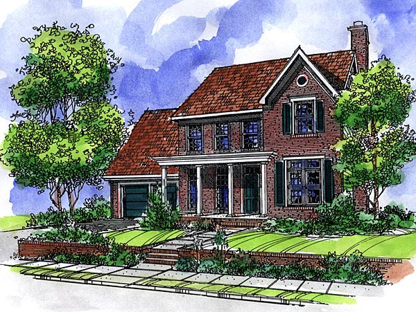 Country House Plan 57504 Elevation