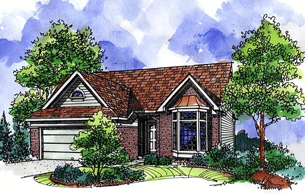 Country Ranch House Plan 57505 Elevation
