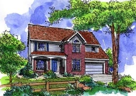 House Plan 57508 | Country Style Plan with 2201 Sq Ft, 4 Bedrooms, 3 Bathrooms, 3 Car Garage Elevation