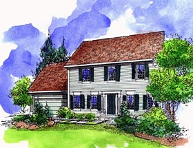 Southern House Plan 57509 with 4 Beds, 3 Baths, 2 Car Garage Elevation