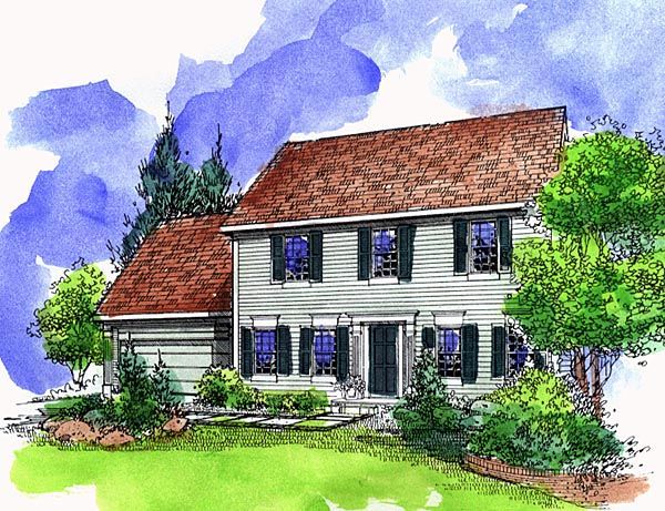 Southern House Plan 57509 Elevation