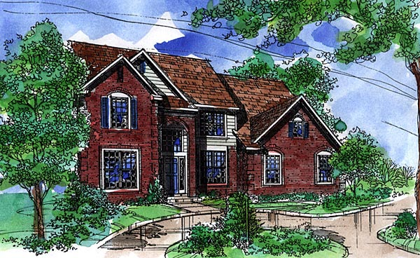 Country House Plan 57510 Elevation