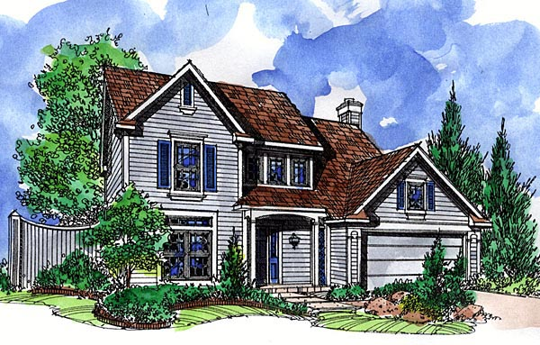 Country House Plan 57511 Elevation