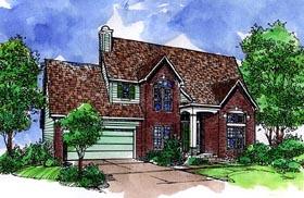 European House Plan 57512 Elevation