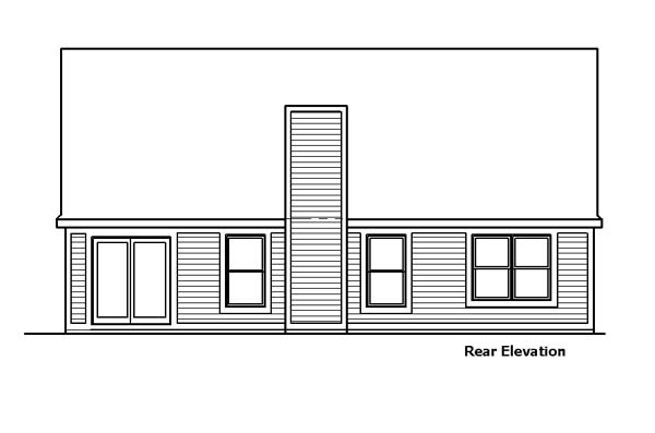 Country House Plan 57513 Rear Elevation