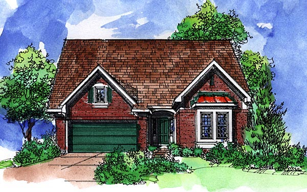 Country European House Plan 57514 Elevation
