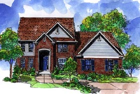 Colonial House Plan 57515 Elevation