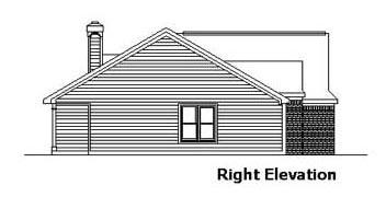 Country, One-Story, Ranch House Plan 57517 with 3 Beds, 2 Baths, 2 Car Garage Picture 2