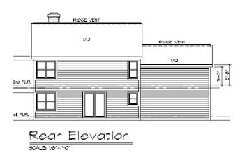 Southern House Plan 57519 Rear Elevation