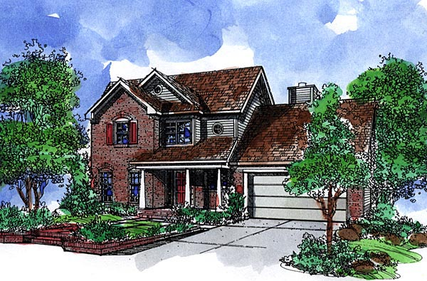 Country House Plan 57522 Elevation