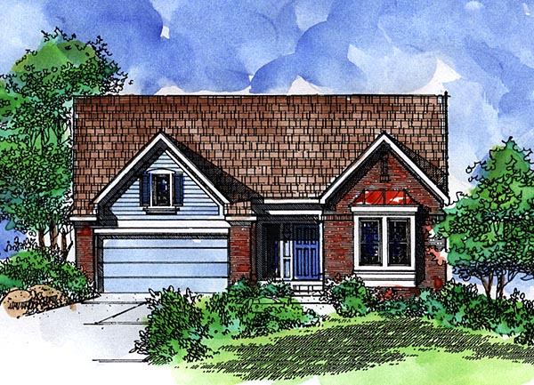 Country Ranch House Plan 57523 Elevation