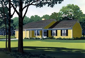 Country House Plan 57526 Elevation