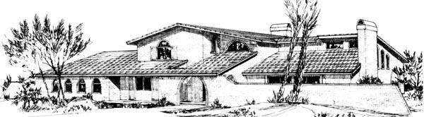 Mediterranean House Plan 57532 Elevation