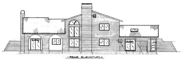 Mediterranean House Plan 57532 Rear Elevation