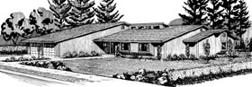 House Plan 57534 Elevation
