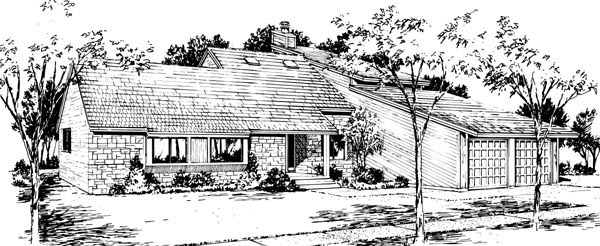House Plan 57536 | Style Plan with 2645 Sq Ft, 4 Bedrooms, 4 Bathrooms, 2 Car Garage Elevation