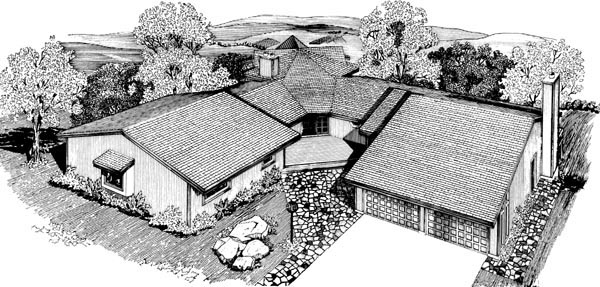 House Plan 57537 Elevation