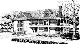 Country Farmhouse Victorian House Plan 57538 Elevation