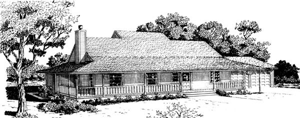 Country House Plan 57539 Elevation