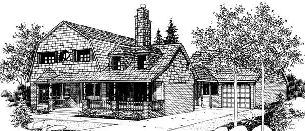 Country House Plan 57542 Elevation