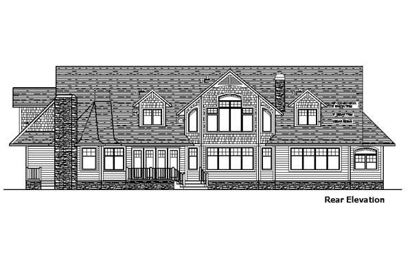 House Plan 57550 Rear Elevation