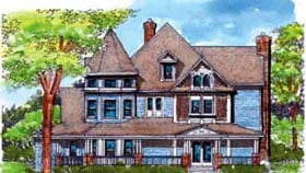 Country Victorian House Plan 57563 Elevation