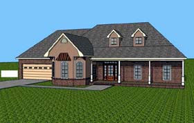 House Plan 57704 | Contemporary Southern Style Plan with 1805 Sq Ft, 3 Bedrooms, 2 Bathrooms, 2 Car Garage Elevation