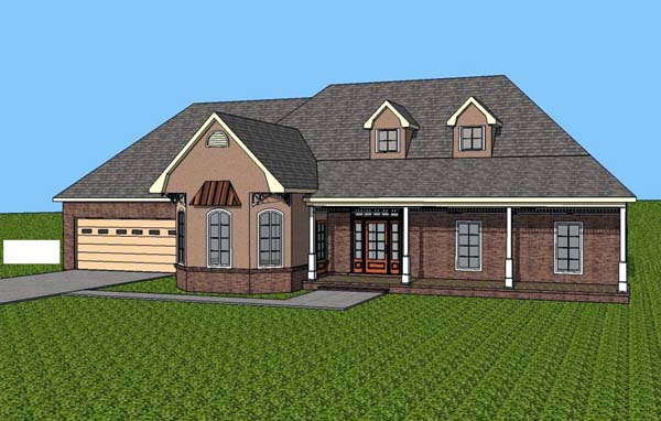 Contemporary Southern House Plan 57704 Elevation