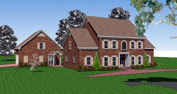 Colonial Southern Traditional House Plan 57712 Elevation