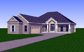 House Plan 57714 | Country Southern Style Plan with 2051 Sq Ft, 3 Bedrooms, 2 Bathrooms, 2 Car Garage Elevation