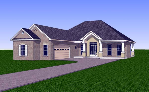 Contemporary Country Southern House Plan 57725 Elevation