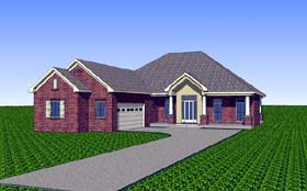 Contemporary Country Southern House Plan 57726 Elevation